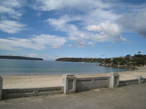 View from Bathers' Pavilion, Balmoral Beach, Sydney, towards Sydney Harbour Heads
