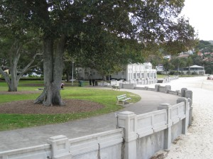Another view of Balmoral Beach and Bathers' Pavilion, Sydney, on a Quiet Winter Day