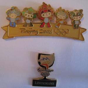 Beijing 2008 and Sydney 2000 Olympics Pins