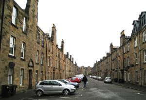 Clive Walking on Bruce Street, Stirling