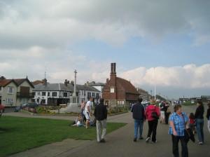 Walking on the Esplanade, Aldeburgh, England