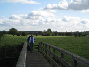 Clive on Public Footpath Bridge, East Bergholt