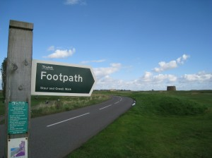 Foorpath Sign Near Felixstowe Ferry, England