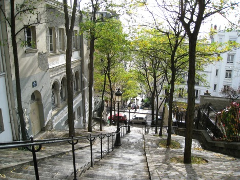 rue Foyatier and Steps Parallel to Funicular, Montmartre