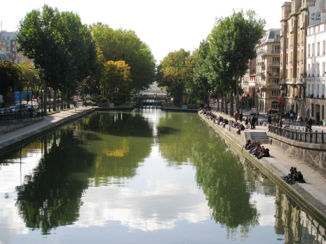 Along the Quays of Canal St.-Martin, Paris