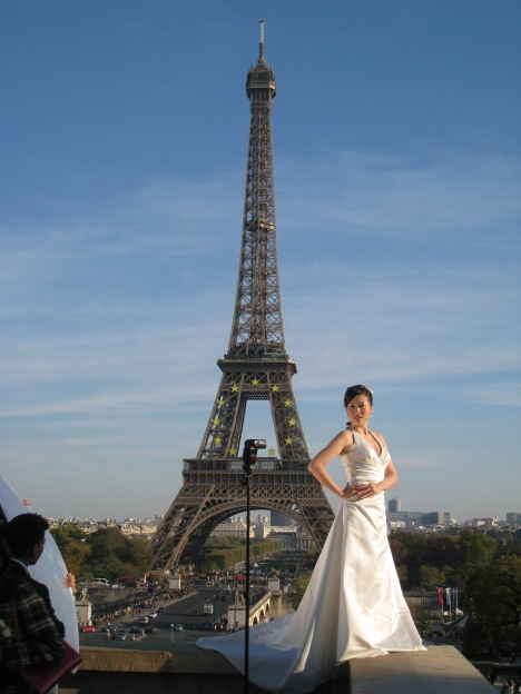 Japanese Model & Eiffel Tower