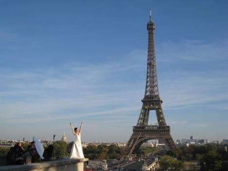 Japanese Model & Eiffel Tower