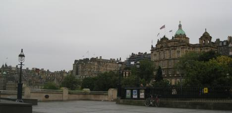 Plaza near Edinburgh Castle