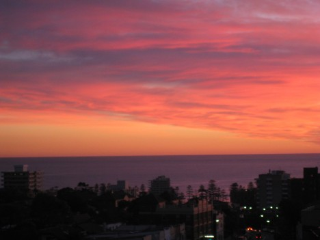 Sunrise over the Pacific Ocean, Monday