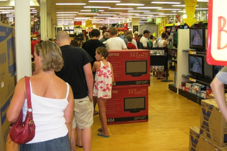 Check-out Line at JB Hi-Fi