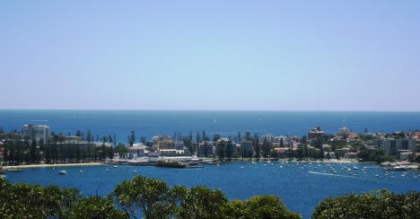Manly Harbour and Ocean Beaches, from Dobroyd Head, New Year's Eve