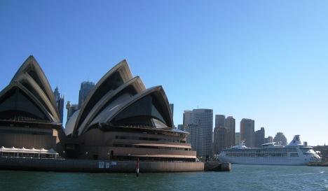 Sydney Opera House and Cruise Ship