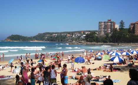 Manly Beach, Looking South and across to Shelly Beach