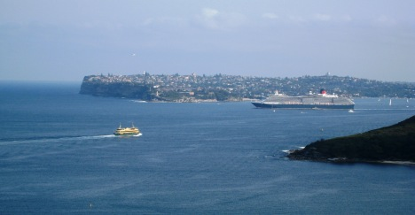 Queen Victoria Leaving Sydney Harbour