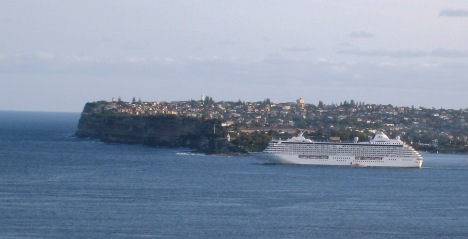 Crystal Serenity Leaving Sydney Harbour, 6:45 p.m.