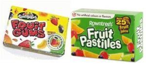 Rowntree's Fruit Gums and Fruit Pastilles