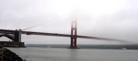 Golden Gate Bridge in San Francisco Fog, 2006