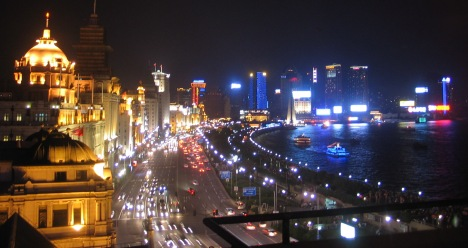 The Bund at Night, Shanghai, 2007