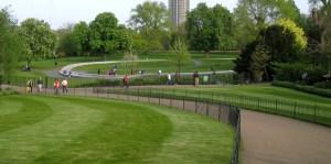 Pathways near Diana Memorial Fountain, Hyde Park, London