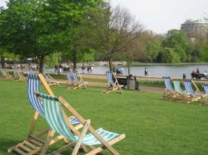 Lawn Chairs at the Serpentine, Hyde Park, London