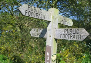 Footpath Sign, Suffolk, England