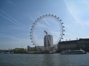 London Eye from Westmminster Pier, London