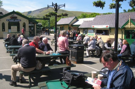 Clive reading walk book, Llanberis Station