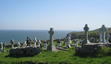Gravesites at St. Tudno's Church, Great Orme