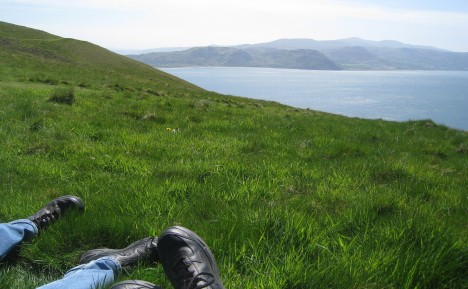 Resting the feet near walk's end, Great Orme