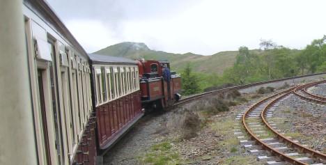 On the Ffestiniog Railway, Gwynedd, Wales