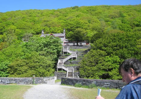 Steps leading to Quarry Hospital, Llanberis