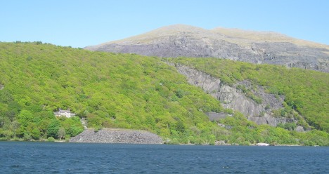 Quarry Hospital across Llyn Padarn, Llanberis