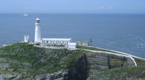 South Stack Lighthouse, Irish Sea, Isle of Anglesey