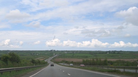 Driving west on the A55, Isle of Anglesey