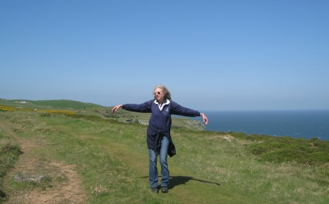 My Julie Andrews impersonation on the Great Orme