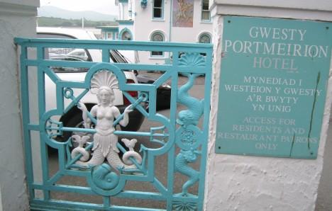 Entrance to Hotel Portmeirion, Gwynedd