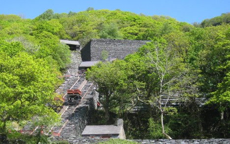 Slate mining incline, Vivian Quarry, Llanberis