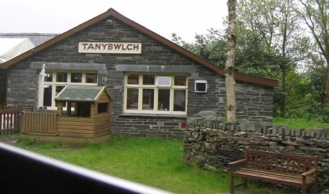 Ffestiniog Railway stop at Tanybwlch, Gwynedd