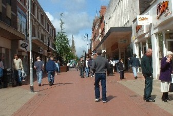Internet photo, town centre, Wrexham, Wales