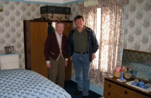 Jack and Clive, in room where Clive was born