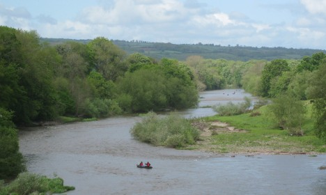 The River Wye at Hay-on-Wye, Wales