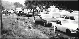 Cars in the mud (Internet photo), Woodstock 1969