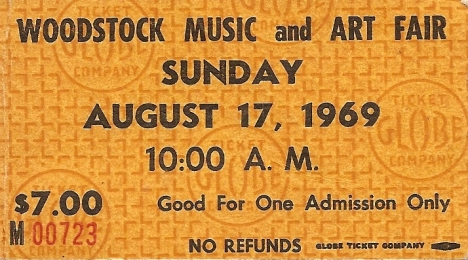 My Woodstock ticket