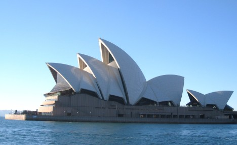 Winter morning, Sydney Opera House