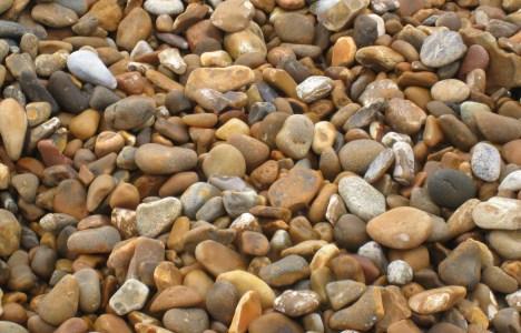 Close-up of shingle beach, Felixstowe