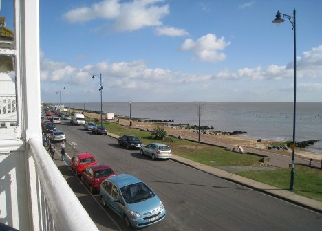 North from the balcony, Felixstowe seafront
