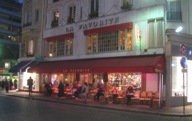 Our café, this evening