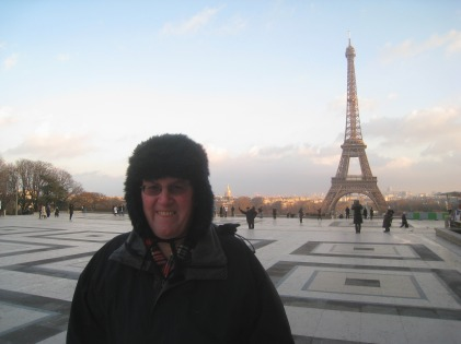 Clive in his mini-bearskin, Paris
