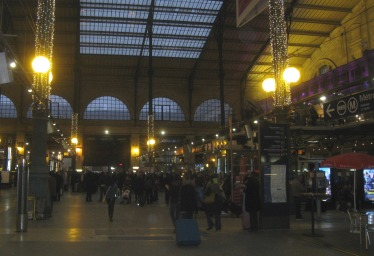 Late afternoon arrival at Gare du Nord, Paris