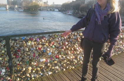 Me and our lovelock today, Paris